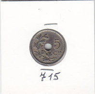 5 CENTIMES Cupro-nickel Albert I 1925 FR - 1909-1934: Albert I