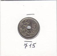5 CENTIMES Cupro-nickel Albert I 1925 FR - 03. 5 Centesimi