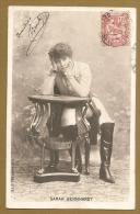 SARAH BERNHARDT - S.I.P 72e SERIE N°3 - Carte  Précurseur - Teatro