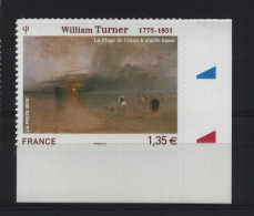 FRANCE ADHESIF ENTREPRISE TABLEAU PEINTURE WILLIAM TURNER LA PLAGE DE CALAIS - Ecken (Datum)