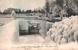 SUISSE BISE GLACIALE A GENEVE PARC MON REPOS  CARTE PRECURSEUR CIRCULEE 1905 - GE Ginevra