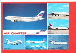 AVION Cpm Multivues Flotte Air Charter - 1946-....: Ere Moderne