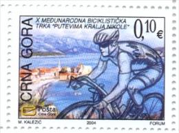 "CG 2004 X INTERNATIONAL CYCLING RACE""THE PATHS OF KING NIKOLA"", MONTENEGRO-CRNA GORA, 1 X 1v, MNH - Montenegro"