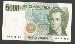 REPUBBLICA ITALIANA - 5000 Lire BELLINI - (Firme: Ciampi / Speziali) - [ 2] 1946-… : Repubblica