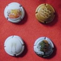 Mousseux: 4 Caps Cuvée Prestige Du 21ème Siècles (polychrome). RARE. TBien/Bien - Schaumwein - Sekt