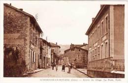 AUBERIVES EN ROYANS - Entrée Du Village - La Poste - Ecole    (61358) - Altri Comuni