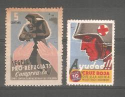 2 Viñetas Politicas. - Viñetas De La Guerra Civil