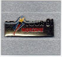 Pin´s  Sport  Cyclisme  Le  Tour  De  France  à  MORZINE  En  1991 - Cyclisme