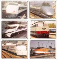 SERIE COMPLETA DE 12 CALENDARIOS DE TRENES DEL AÑO 1993 (CALENDRIER-CALENDAR) TRAIN-ZUG - Tamaño Pequeño : 1991-00