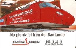 CALENDARIO DEL SANTANDER DE UN TREN DEL AÑO 1997 (CALENDRIER-CALENDAR) TRAIN-ZUG - Tamaño Pequeño : 1991-00
