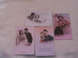 LOT DE 4 CARTES ...COUPLES.... - 5 - 99 Cartes
