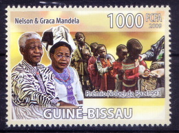 Guine Bi. MNH, Nelson Mandela, Nobel Peace   - Nobel Prize Laureates