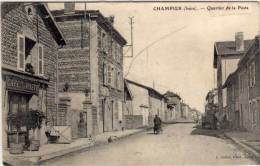 CHAMPIER - Quartier De La Poste  - Café De La Poste  (61378) - Autres Communes