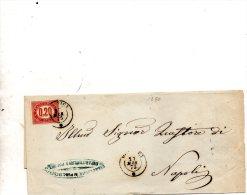 1875 LETTERA CON ANNULLO PORTICI NAPOLI - Steuermarken