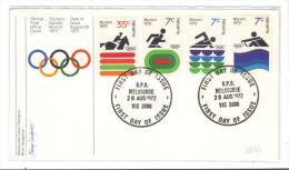 VER2826 - AUSTRALIA , Olimpiadi La Serie Su FDC 28 Agosto 1972 - 1966-79 Elizabeth II