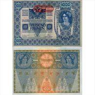 Billet Allemagne 1000 Kronen Deutschösterreich N°Cata P 61   1902(1919) Tampon Horizontal - [ 2] 1871-1918 : Empire Allemand
