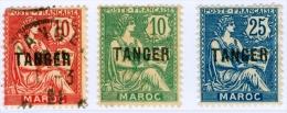 TANGERI, TANGER, MAROCCO FRANCESE, FRENCH MOROCCO, 1918-1924,NUOVI E USATI, Scott 77,78,81 - Nuevos