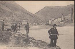 CPA:Le Pouzin:Nos Pêcheurs Sur Le Rhône - Le Pouzin