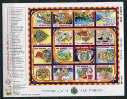 Saint Marin ** N° 1913 à 1928 Formant Bloc - Noël. Jeu De L'oie De Noël - Saint-Marin