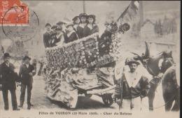 CPA:Voiron:Fêtes 1908:Char Du Bateau - Voiron