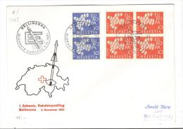 VER2865 - SVIZZERA , Posta Razzo Raketenpostflug Bellinzona 5/11/1961 - Posta Aerea