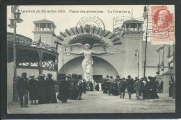 BRUXELLES. BELGIQUE. EXPOSITION 1910. ANIMEE..LA CREATION... FEMME NUE. .. C1416 - Expositions Universelles