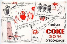 Buvard - Brûlez Du Coke 30% D´économie - Gas, Garage, Oil