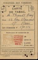 Carte De Tabac 1945 - Non Classés