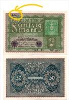 Allemagne - Billet 50 Marks 1919 , Reihe (=Série)  3 - 50 Mark