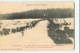 Hiver Dans Les VOSGES - Le Grand Saut à SKIS - Un Sans Faute - Edition Ad. Weick - 2 Scans - Sports D'hiver