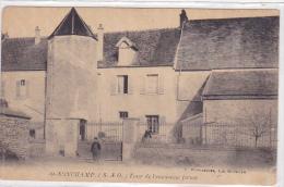 Cpa-78-sonchamp- Tour De L'ancienne Ferme-personnage-avec Publicite Au Dos -edi : Royer - France