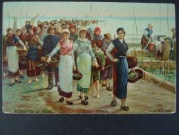 Cancale , Peinture De Feyen 1869  , Retour De La Peche , Parc A Huitres , La Houle - Cancale