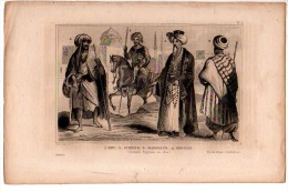 EGYPTE : BEY, SCHEICK, MAMELUCK, BEDOUIN,   Gravure XIXème Siècle - Old Paper
