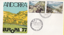 CEPT - Europa - 1977 - FDC Andorra (Spaanse Post) - Michel 107 - 108 - Europa-CEPT