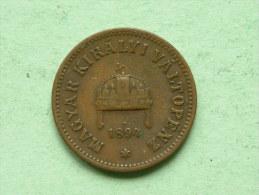 1894 - 2 Filler / KM 481 ( For Grade, Please See Photo ) ! - Hungría