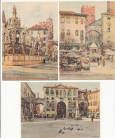 VERONA, ITALY:  Folder Of 12 Different  Acquarell Postcards By G. Zancolli.  Beautiful Set - Künstlerkarten