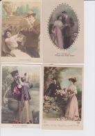 LOT  DE  20 CPA  DE  COUPLES  D ´AMOUREUX  - Toutes Scanées - Cartes Postales