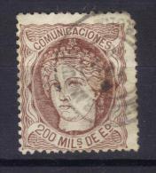 BIN238 - SPAGNA 1870 , 200 Cent N. 109 - 1870-72 Reggenza
