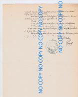 Rare Document 19 MAI 1873 Délibération Mairie Création Bureau Télégraphe à ERCHEU Somme - Historical Documents