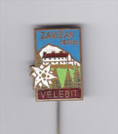 Climbing Mountaineering Alpinism - Zavizan Mt Velebit Croatia Old Enamel Pin - Alpinism, Mountaineering