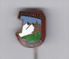 Climbing Mountaineering Alpinism - Club Japetic Samobor Croatia Old Enamel Pin From 1950th. - Alpinism, Mountaineering