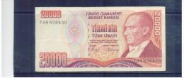 TÜRKEi , TURKEY  ,  20000  Lira    ,      Pick#138 - Indonesien