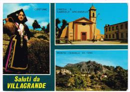 G2589 Saluti Da Villagrande Strisaili (Ogliastra) - Chiesa San Gabriele Arcangelo - Monte Isadalu / Non Viaggiata - Andere Städte