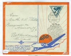 NED. INDIE * LP * BRIEFOMSLAG Uit 1937 Van PALEMBANG Naar ROTTERDAM * 500ste POSTVLUCHT  (7963) - Niederländisch-Indien