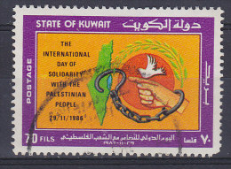 Kuwait 1986 Mi. 1118     70 F Internationaler Tag Der Solidarität Mit Dem Palästinensischen Volk Landkarte Map - Koeweit