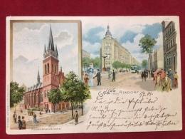 AK Berlin Rixdorf Litho 1901 Rosenkranzkirche - Rixdorf