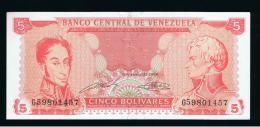 VENEZUELA -  5  Bolivares 1989 SC   P-70 - Venezuela