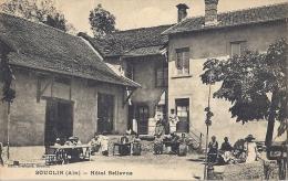 SOUCLIN   HOTEL BELLEVUE  TRES BELLE    CARTE ANIMEE - Autres Communes