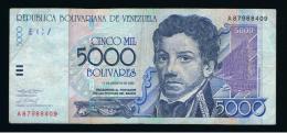 VENEZUELA - 5.000  Bolivares 2002  Circulado  P-84 - Venezuela