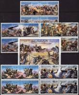 Gaddafi Kampf In Der Wüste Libyen 6 Block Plus Sets ** 17€ Schlachten Revolution Hojita M/s Military Bloc Sheet Bf Libya - Militaria
